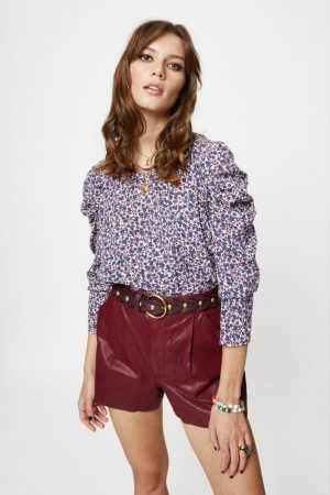 Rebecca Minkoff Carrie Top Forest Floral Multi | Womens Tops