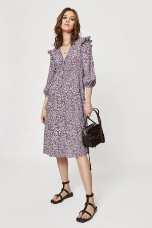 Rebecca Minkoff Darcy Dress Forest Floral Multi | Womens Dresses & Skirts