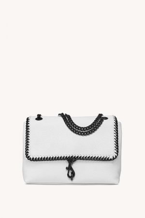 Rebecca Minkoff Edie Flap Shoulder Bag With Woven Chain Plaster | Womens Shoulder Bags