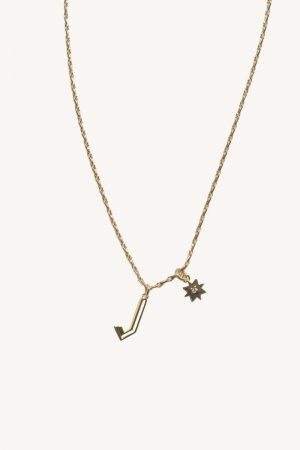 Rebecca Minkoff J Cut-out Initial Necklace Gold | Womens Jewelry