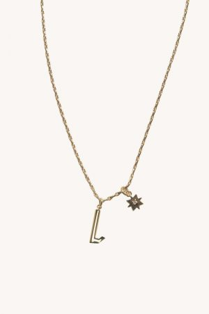 Rebecca Minkoff L Cut-out Initial Necklace Gold | Womens Jewelry