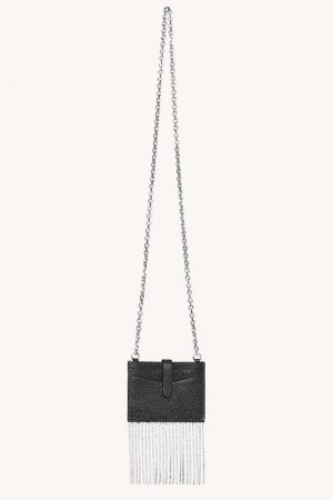 Rebecca Minkoff Large Card Case On Chain Black | Womens Wallets