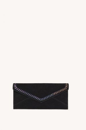 Rebecca Minkoff Leo East West Clutch With Chain Inset Black | Womens Clutches