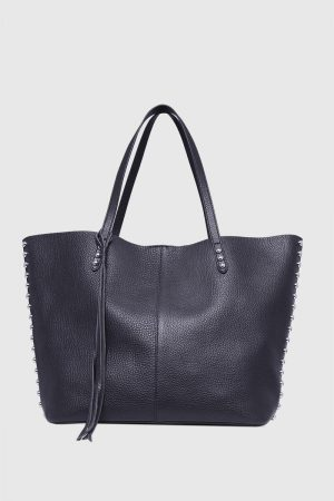 Rebecca Minkoff Medium Unlined Tote Navy | Womens Tote Bags