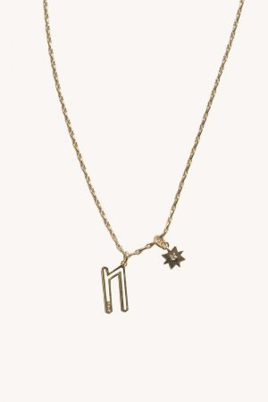 Rebecca Minkoff N Cut-out Initial Necklace Gold | Womens Jewelry