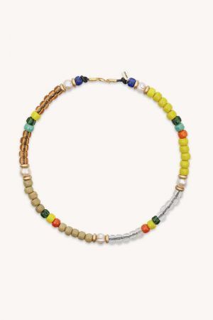 Rebecca Minkoff Pearl Station Necklace Gold/Yellow | Womens Jewelry
