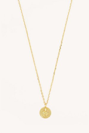 Rebecca Minkoff Snake Medallion Necklace Gold | Womens Jewelry