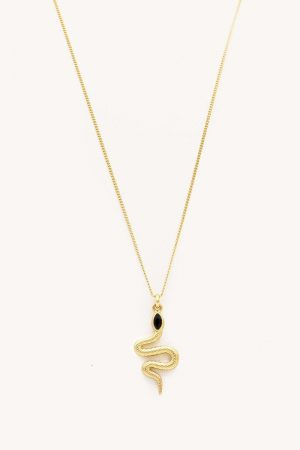 Rebecca Minkoff Snake Charm Necklace Gold | Womens Jewelry